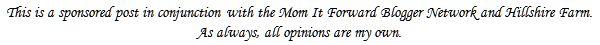 Mom It Forward Hillshire farm Disclosure
