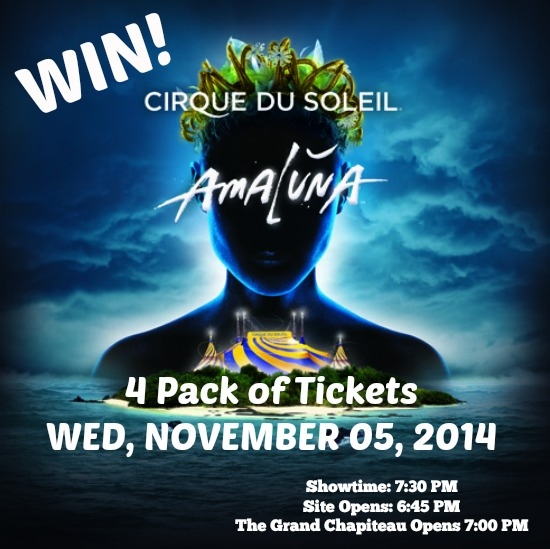 Cirque du Soleil Amaluna Ticket Giveaway www.InTheKitchenWithKP Atlanta Attraction