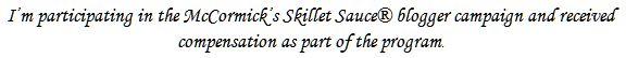 McCormick Skillet Sauce Disclosure