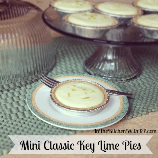 Mini-Classic-Key-Lime-Pies-www.InTheKitchenWithKP Pie Recipes