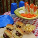 Mozzarella Stuffed Meatball Sliders #SOLOtailgate #ad