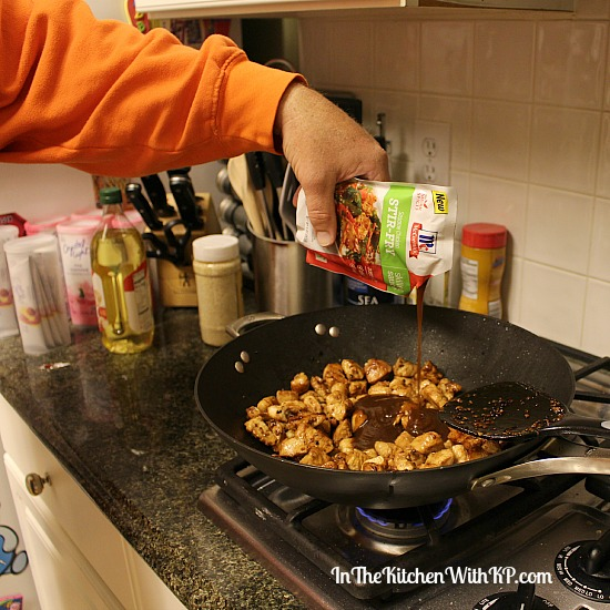 Sesame Chicken Stir Fry with McCormick® Skillet Sauce www.InTheKitchenWithKP Easy Dinner Recipe 4