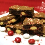 White Chocolate Peppermint M&M'S® Cookie Bars #HolidayBaking