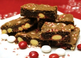 White Chocolate Peppermint Cookie Bars Recipe www.InTheKitchenWithKP slider
