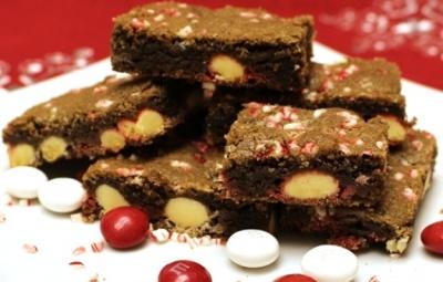 White Chocolate Peppermint Cookie Bars Recipe www.InTheKitchenWithKP slider