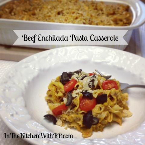 Beef-Enchilada-Pasta-Casserole-www.InTheKitchenWithKP Casserole Recipe