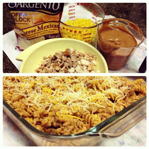 Creamy-Barbecue-Turkey-Pasta-www.InTheKitchenWithKP casserole recipe