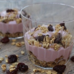 Dried Cherry Granola Parfait With Silk Dairy Free Yogurt Alternative