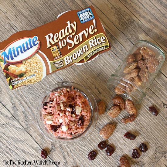 Glazed Pecan, Cherry Feta Cheese Raspberry Rice Bowl Recipe www.InTheKitchenWithKP 4