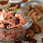 Glazed Pecan, Cherry and Feta Cheese Raspberry Rice Bowl