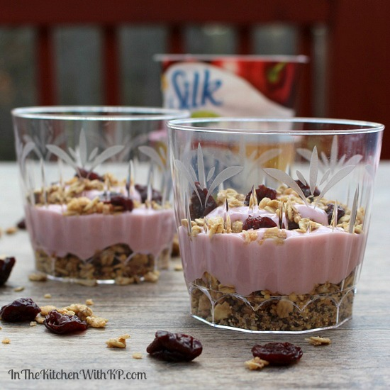 Granola Parfait With Silk Dairy Free Yogurt Alternative www.InTheKitchenWithKP Snack Recipe 7