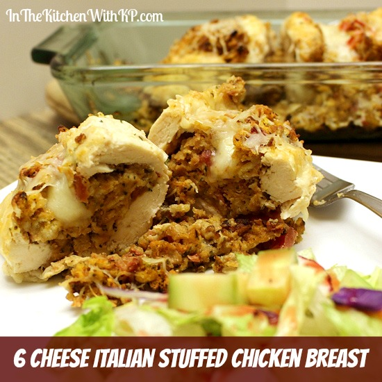 6 Cheese Italian Stuffed Chicken Breast Recipe | In The Kitchen With KP