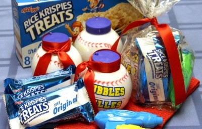 Rice Krispies Treats® Baseball Treat Bags | In The Kitchen With KP | Kid Snack Gift Bag Ideas