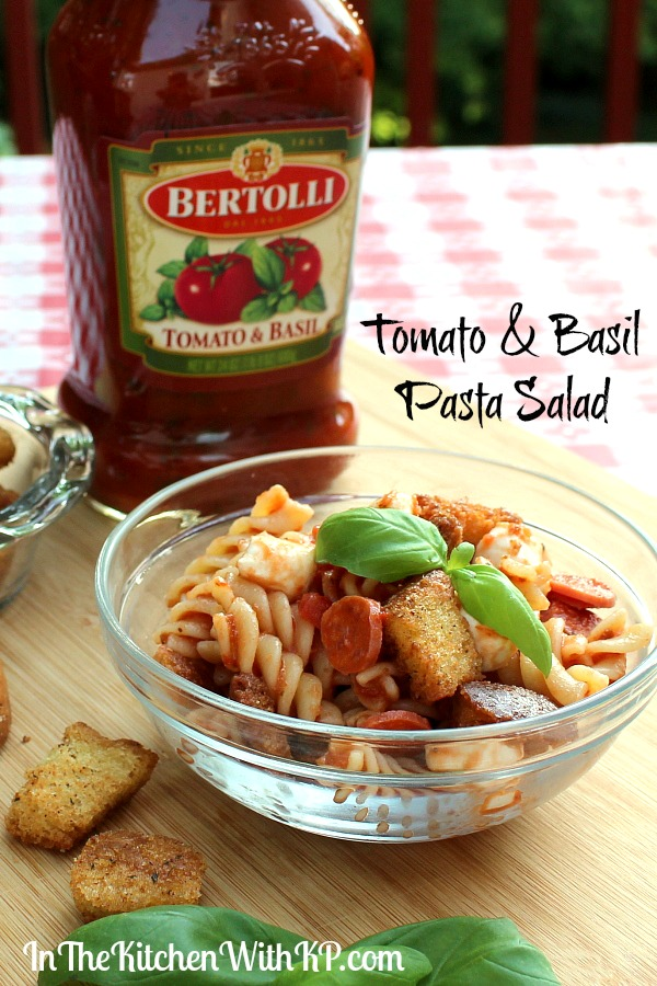 Tomato and Basil Pasta Salad Recipe   In The Kitchen With KP   Easy Dinner Recipe