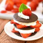 No Bake Chocolate Strawberry Stacks
