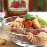 Tomato and Basil Pasta Salad Perfect for Your Summer Tuscan Table #VivaBertolli