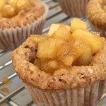 Apple and Salted Caramel Cookie Cups