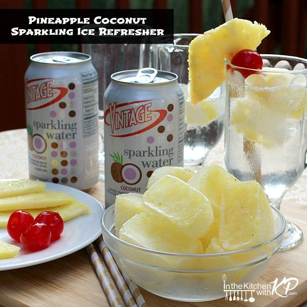 Pineapple Coconut Sparkling Ice Refresher | In The Kitchen With KP |Mocktail Drink Recipe