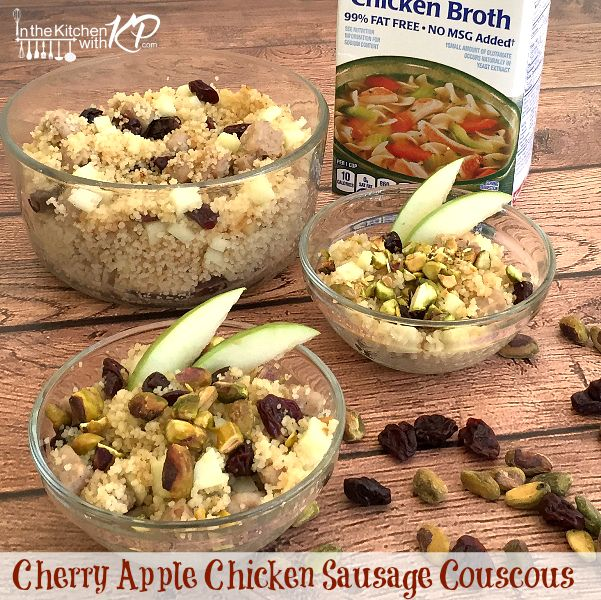 Cherry Apple Chicken Sausage Coucous | In The Kitchen With KP | Side Dish Recipe