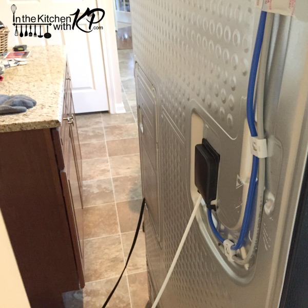 Waterline hook up refrigerator