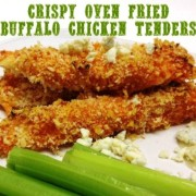 Crispy Oven Fried Buffalo Chicken Tenders for a Spicy #SundaySupper