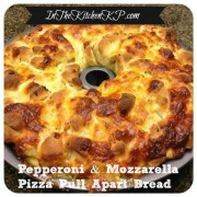 Pepperoni and Cheese Pizza Pull Apart Bread Tailgate #SundaySupper