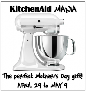 Enter Kitchen Aid Mania To Get Your Own Artisan Stand