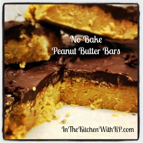 No Bake Peanut Butter Bars 1