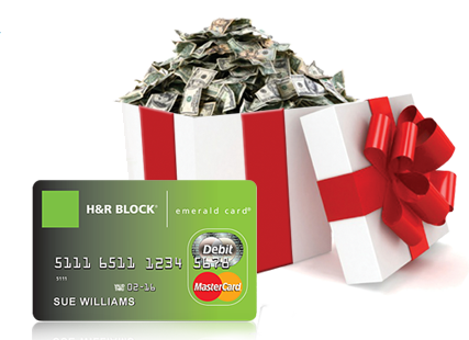 · To apply for the Emerald Advance, current H&R Block clients need to bring a current earnings statement, a valid, unexpired government-issued photo identification card (e.g., a driver's license) and their H&R Block Emerald Prepaid MasterCard® if they have one.