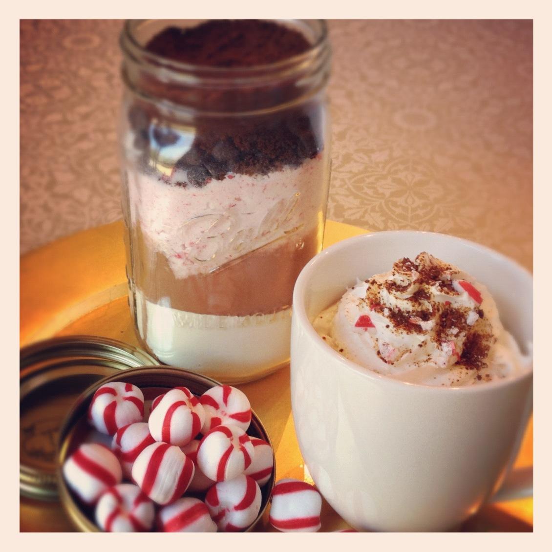 Homemade Peppermint Mocha Mix In A Jar