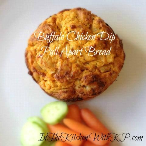 Buffalo Chicken Dip Pull Apart Bread 2