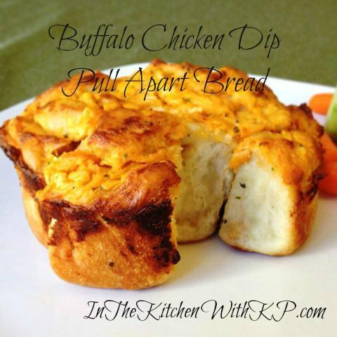 Buffalo Chicken Dip Pull Apart Bread