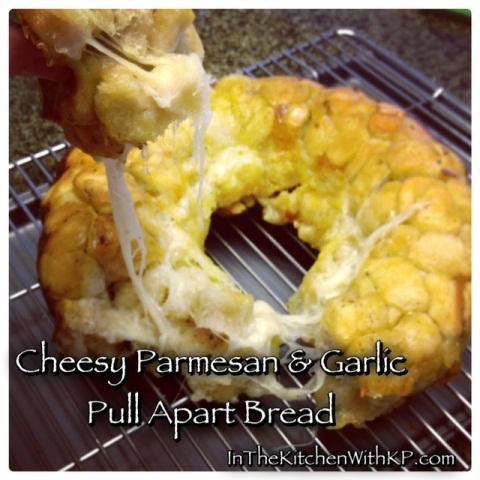 Cheesy Parmesan And Garlic Pull Apart Bread 2