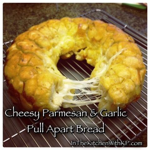 Cheesy Parmesan And Garlic Pull Apart Bread 3