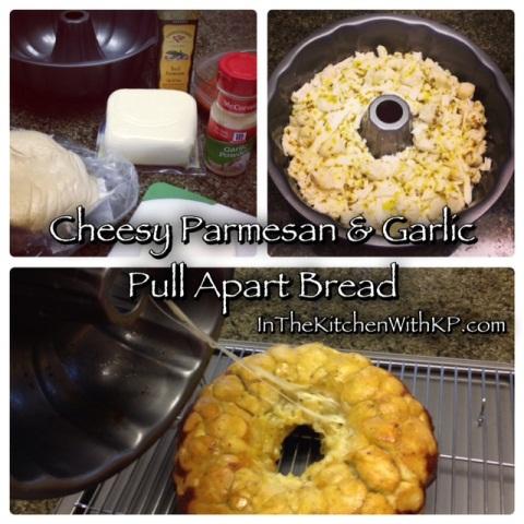 Cheesy Parmesan And Garlic Pull Apart Bread