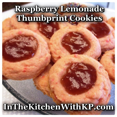 Raspberry Lemonade Thumbprint Cookies
