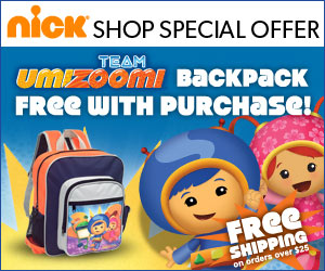 Team Umizoomi Free backpack with Purchase