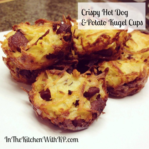 Crispy Hot Dog and Potato Kugel Cups