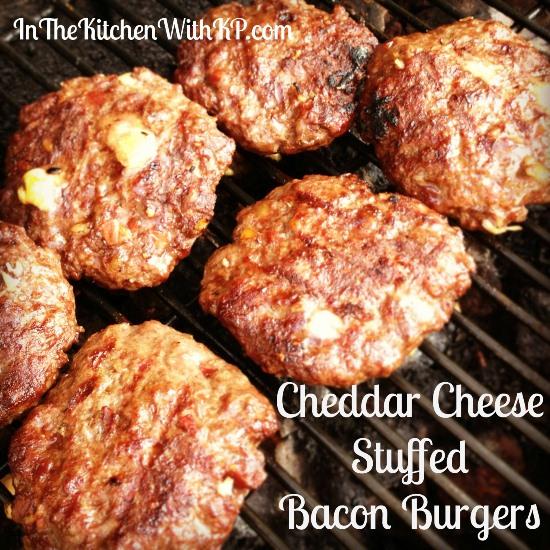 Cheddar Cheese Stuffed Bacon Burgers 3