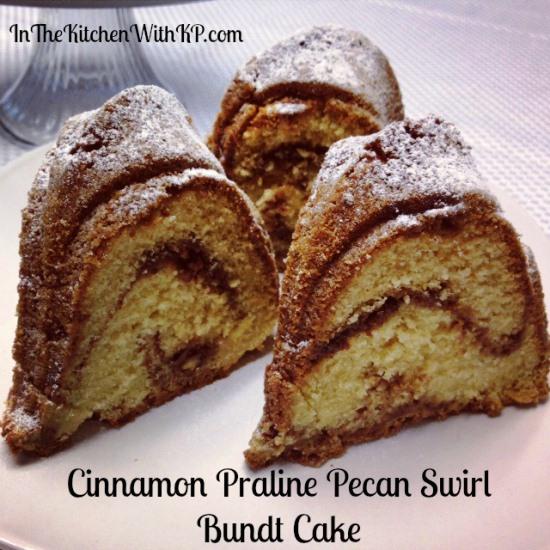 Cinnamon Praline Pecan Swirl Bundt Cake 1