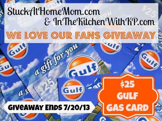 Gulf Gas Card 25 Dollar Giveaway