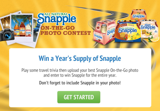 Snapple On The Go Photo Contest