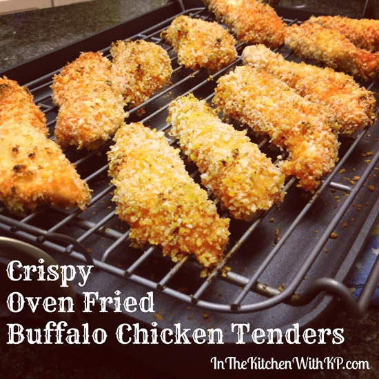 Crispy Oven Fried Buffalo Chicken Tenders 3
