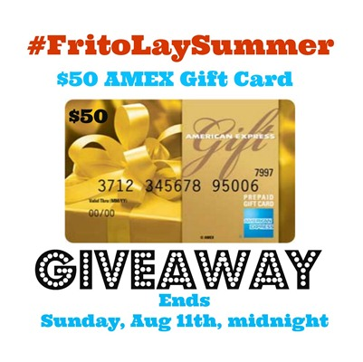 FritoLay $50 AMEX gift card Giveaway