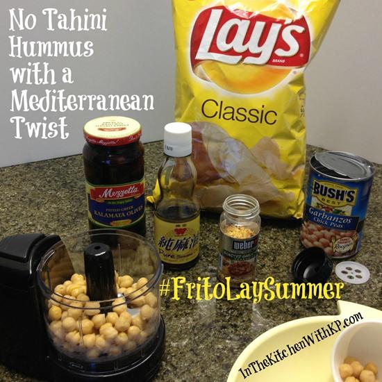 No Tahini Hummus with Mediterranean Twist