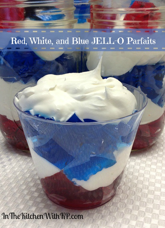Red White and Blue JELL-O Parfaits 3
