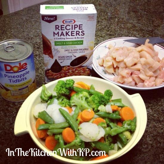 Sweet and Sour Chicken #KraftRecipeMakers #shop 2