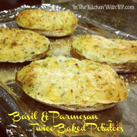 Basil Parmesan Twice Baked Potatoes 6