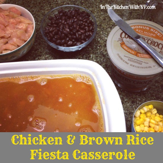 Chicken and Brown Rice Fiesta Casserole 3 #QuickFixCasseroles