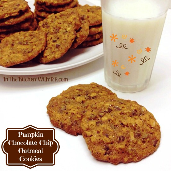 Pumpkin Chocolate Chip Oatmeal Cookies 1